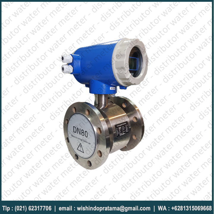FLOW METER ELECTROMAGNETIC 3 INCH CALIBRATE – FLOW METER CALIBRATE DIGITAL DN80. PT WISHINDO PRTAMA ABADI Merupakan distributor water meter